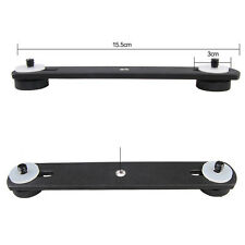 2 Dual Flash Bracket Mount Holder Stable for 1/4'' Screw Studio Tripod Stand