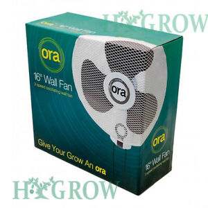 "ORA Wall Fan 16"" with 3 Speed Oscillation 90° oscillating Office Home Hydro"