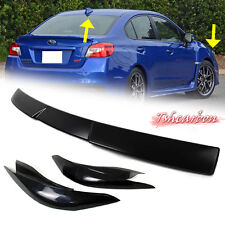 UNPAINTED 2016 FOR SUBARU WRX STI 4th V STYLE WINDOW ROOF SPOILER + EYEBROWS