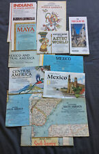 12 Vintage Maps / Mexico - South America - Central America - Maya - Aztec Etc*!*