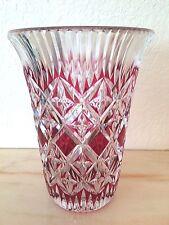 VAL ST LAMBERT - vase rouge/rubis - très belle taille - signé