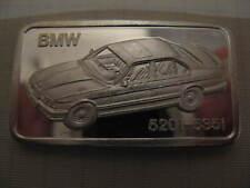 HERAEUS BMW 520i - 535i 1oz Ag SILVER BAR Silberbarren #16.1651