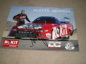 "SIGNED 2019 Alexis Dejoria ""ROKIT"" NHRA Top Fuel Drag Racing Series Postcard"