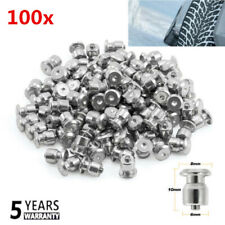100pcs 8mm Car Anti-Slip Metal Screw In Tire Stud Snow Spikes Wheel Tyre Chain