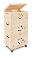 Toy Wooden Box Storage Plain Wood Chests Kids Craft Children Boy and Girl Room