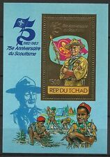 Tchad Chad Scoutisme Scouting Pfadfinder Lord Baden Powell ** 1984 Or Gold Foil