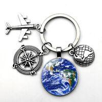 Geocaching Schlüsselanhänger Travelbug Anhänger Welt Reise Gutschein Kompass
