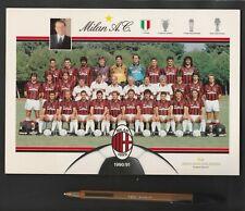 CARTOLINA FIGURINA 1990-91 MEDIOLANUM SPONSOR SQUADRA MILAN