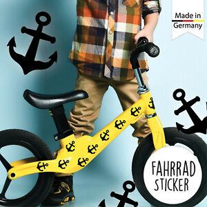 Fahrradaufkleber 35 schwarze Anker Maritim Fahrrad Sticker Fahrraddesign Kinder