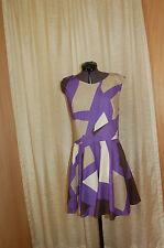 Top Shop Cotton Purple/Brown/Beige Dress Size US 10