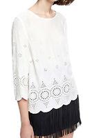 Pepe Jeans Top / Bluse / T-Shirt Leandra Viskose Offwhite Größe M / DE 38