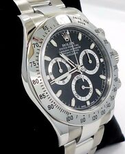 Rolex Daytona 116520 Cosmograph Chrono Oyster Black Dial Watch BOX/PAPERS *MINT*