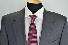 Canali Gray Subtle Black Striped Woven 100% Wool 2 Piece Suit Jacket Pant Sz 40R