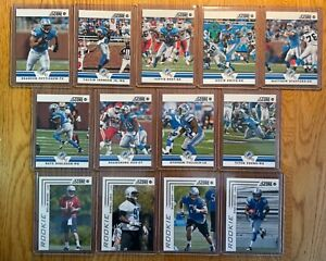 2012 DETROIT LIONS PANINI SCORE 13 FOOTBALL CARDS MATT STAFFORD JOHNSON SUH BEST