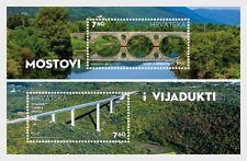 Lika River Bridge and Limska Draga Viaduct mnh souvenir sheet 2017 Croatia