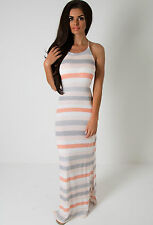 Full Length Polyester Casual Striped Dresses for Women