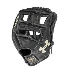"NEW Under Armour 11 1/2"" Flawless Series Baseball Glove Black RH Throw"