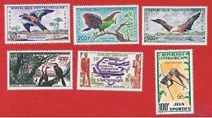 Central Africa #C1-C6  MVFLH OG  Air Post   Free S/H