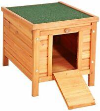 Small Pet House Hutch Rabbit Chicken Outdoor Wooden Den Kennel Shelter Hider Cat
