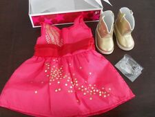 New In Box NIB American Girl Doll of 2013 SAIGE'S SPARKLE DRESS COWBOY BOOTS