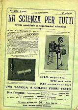 LA SCIENZA PER TUTTI # Quindicinale  - Anno XVIII - N.59 # 1 Luglio 1911