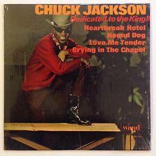 CHUCK JACKSON Dedicated To The King SHRINK Original ELVIS PRESLEY vg++ WAND mono