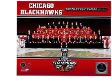 Chicago Blackhawks 2013 Stanley Cup Champions Team Sit Down 8x10 Photo NHL