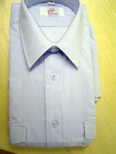 "Pilot Shirt Sky Blue Polycotton easy care Short Sleeve Size 15"""