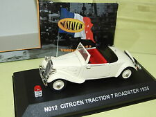 CITROEN TRACTION 7 Roadster 1935 Creme NOSTALGIE  1/43