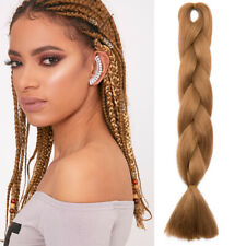 "24"" Red Jumbo Braiding Hair Extensions Afro Twist Kanekalon Box Braids Hair PRR"