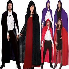 Men Womens Unisex Fancy Dress Halloween Stag Party Night Out Costume Hooded Cape