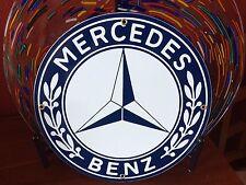 classic MERCEDES BENZ - heavy DUTY metal porcelain sign