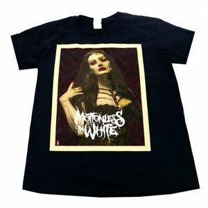 Motionless In White Face Men's T-shirt Black Official Licensed Music Medium