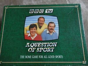 A QUESTION OF SPORT, BBC TV BOARD GAME INCLUDES THE RARE MIKE TYSON CARD