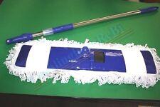 Scopa professional in cotone  cm 60 c/manico allungabile  assorbi polvere mop