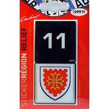 Adhesif Sticker Autocollant Pour Plaque D'immatriculation Aude 11