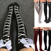 Ladies Cat Catoon Boot Socks Long Socks Over Knee Thigh High Sock Stockings Lot
