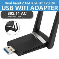 Dual Band Wireless Dongle 802.11ac 1200Mbps USB3.0 AC1200 USB Wifi Adapter