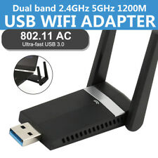 CHIAVETTA USB DONGLE WIFI 2.4/5.8GHz 1200Mbps ADATTATORE WIRELESS ANTENNA WIFI