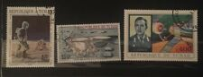 Stamp Republique Du Tchad Lot Soyuz 11 Telecommunications Patzaev Luna Xvii.