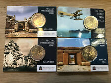 2 Euro Coincards Malta 2015 2016 2017 2018 RAR