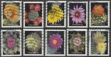 Scott #5350-59 Used Set of 10, Cactus Flowers (Off Paper)