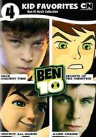 4 KID FAVORITES: BEN 10 MOVIE COLLECTION NEW DVD