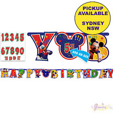 MICKEY MOUSE PARTY SUPPLIES 3.2m JUMBO HAPPY BIRTHDAY BANNER KIT DECORATIONS