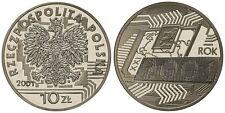 2001 Poland Silver Proof  10 Zl-Millenium
