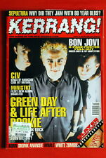 GREEN DAY COVER BON JOVI 8 PAGE POSTER PULL-OUT 1996 SLAYER SOULFLY UK MAGAZINE