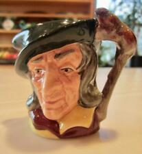 "Royal Doulton Pied Piper D6514 2½""T Walking Stick wRats Mini Toby Character Jug"