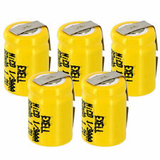 5x Exell 1/3AAA NiCD 80mAh 1.2V Flat top Rechargeable Battery with Tabs