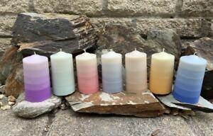 Soy Wax Ombré Pillar Candles (vegan, unscented, various colours..SEE DESCRIPTION