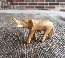 Vintage Folk Art Carved Wooden Wood Elephant Trunk Up Nativity, Easter Animal
